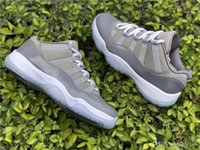 Wholesale Golf Cool - New Release 2019 11 Low Cool Grey 11S Basketball Men Shoes Sports Sneakers Authentic 2018 Real Carbon Fiber 528895-003 With Box 40-47.5