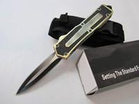 ingrosso coltello da tasca doppio bordo-Scarab 3 modelli oro doppio bordo doppia azione di pesca autodifesa automatica caccia tasca coltello da campeggio coltello regalo di natale per gli uomini C36 C81