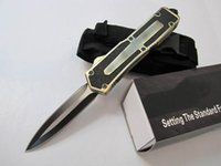 ingrosso coltello da tasca boker-Scarab 3 modelli oro doppio bordo doppia azione di pesca autodifesa automatica caccia tasca coltello da campeggio coltello regalo di natale per gli uomini C36 C81
