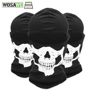 Wholesale face hoods - WOSAWE 3D Skull Cycling Face Mask Sport Motorcycle Full Face Mask Balaclava Breathable Hunting Skiing Hood Ghost Hat