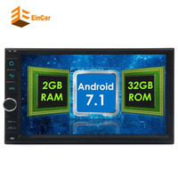 Wholesale 3g Android Car Stereo - Android 7.1 car auto audio head unit 8-core dual DIN touch screen GPS navigation WiFi support OBD2 3G 4G dual camera input