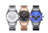 movimientos de cuarzo para relojes. al por mayor-Fecha automática de moda de lujo hombres mesa regalo de la correa de acero movimiento de cuarzo reloj reloj para hombre relojes reloj pulsera