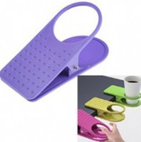 Wholesale clip paper holder - A new glass clip creative personality table water beverage holder at office table glass bracket paper cups shelf IB629