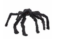 Wholesale spider toy scary for sale - Soft Black Plush peluche Spider Funny Toy Scary Red Eyes for Halloween Decor Toys Party Stage Horror Props Prank Joke Scary Toys