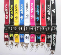 anahtar kayış logosu toptan satış-Ücretsiz kargo 10 adet araba Spor Logo boyun İpi MP3 / 4 cep telefonu anahtar DS lite / Cep Telefonu Sapanlar # 91709