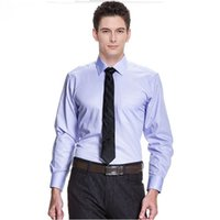 Wholesale red elegant dress long xs - New style and design men suits shirt elegant gentleman formal work occasions suits shirt long sleeve groom tuxedos