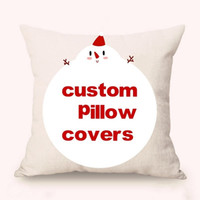 Wholesale Free Customized Pillow Covers Cotton Linen Festival Gifts Digital Printing Pillowcase Promotional Advertising Gifts Sofa quot Cushion Covers