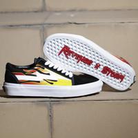Wholesale Pop Shoes - Good Quality Revenge x Storm Fire Flame Pop-up Store Low-cut Japan Sneaker Ian Connor Old Skool Men womens Casual Shoes Training Skate Shoe