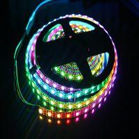 Wholesale Ws2812b Led Strip - 5V WS2812b RGB Led Strip Light 30LEDs m 60LEDs m Black Or White PCB 5050 Waterproof IP67 WS2812 IC Digital Light Dream Color