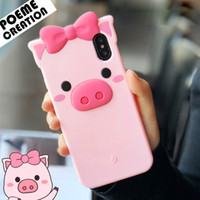 Wholesale case iphone silicon cartoon for sale – best Cute D Cartoon Bowknot Sexy Pink Pig Soft Silicon Rubber Case For Samsung J5 Prime J7 Plus J2 Pro Note Note5