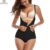 voller anzug latex großhandel-Fajas Reductoras Colombianas Nach der Operation Schlanke Frauen Ganzkörperformer LATEX Korsett Shapewear Taille Trainer Slip Suit Powernet