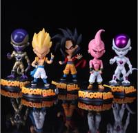 Wholesale buu figure - Dragon Ball Z Action Figures Toys 5 designs 15cm PVC Dragon Ball Goku Flisa Gotenks DragonBallZ Majin Buu Saga With Retail Box KKA4776