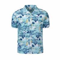 Wholesale wholesale hawaiian shirts - Men Shirt Summer Style Palm Tree Print Beach Hawaiian Shirt Men Casual Short Sleeve Hawaii Chemise Homme Plus Size 5XL