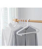 Wholesale Wholesale Plastic Slips For Clothes - Anti Slip Plastic Seamless Hangers -   Dry Wet Clothes White Hanger (200 Pcs) for Adult sweaters, Dresses, Suits HDC1028