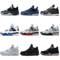 Wholesale military royal - 2018 New 4 4s Men Basketball Shoes Game Royal Thinker Oreo Eminem White Cement Pure Money Toro Bravo Bred Military Blue Cavs SportS Sneakers