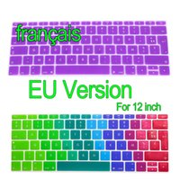Wholesale Euro Stickers - French EU Version Keyboard Stickers Retina 12 inch Gradient Euro Layout Silicone Keyboard Cover for MacBook 12""