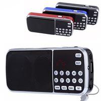 l radio achat en gros de-Haut-parleur portable L-088 Lecteur audio MP3 Lecteur de musique Radio FM Haut-parleur avec lampe de poche USB AUX TF Slot
