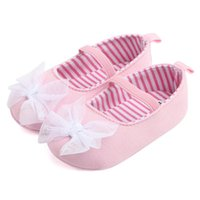 621acdb61ad9b Sweet Pink Baby Shoes Girl Princess Big Bow Floral First Walkers Soft Soled  Anti-Slip Kids Crib Bebe Footwear 0-12M