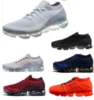 Wholesale mens outdoor socks - 2018 Top Quatily Vapormax Mens Running Shoes Sale Light Soft Sneakers Women Breathable Athletic Sport Shoe Corss Hiking Jogging Sock Shoe
