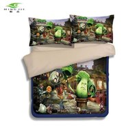 Wholesale king sized bedding sale for sale - HOT SALE game theme bedding set Printed cotton queen full twin size Plants vs Zombies PVZ bed linen for Children s gift