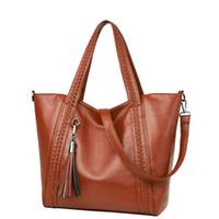 Wholesale russia dress - Sales Promotion!2018 Russia Women's PU Leather Bag Big Shoulder Bags Women Messenger Bags Handbags Women Famous Brand Female Bag