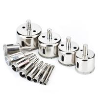 diamantbeschichteter bohrer großhandel-12 Stück Diamantbohrer, Fliesenlochsäge Coated Core Remover Tool für Glas, Granit, Keramik und Porzellan