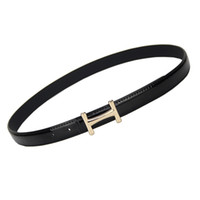 Wholesale h pant for sale - Group buy FEECOLOR Women Waist Belt Slender pants dress Waistbands With Letter H Style Metal Buckles PU Leather thin Belts Solid Color