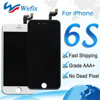"Wholesale Best Digitizer - Best AAA quality Lcd Display replacement for iphone 6s 4.7"" touch screen digitizer assembly repair parts white black color DHL shipping"