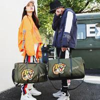 Wholesale Animal Gym Bag - 2018 luxury designer tiger head Outdoor girl women Sport Gym Fitness Training Shoulder handbags Travel excursion backpack package 180127007