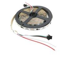 ingrosso il colore di sogno ha condotto la striscia ip67-WS2811 IC LED RGB Strip Light Tape 5050 30/60 led / m 5m DC 12V strisce flessibili nastro impermeabile IP67 Dream Color indirizzabile corda del nastro