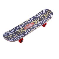 tabla de skate de arce al por mayor-Maple Four Wheels Skate Board Patrón Bardian Cartoon Adolescentes Niños Skateboard Kid deslumbramiento Double Warping Plate Toys 15 5sb Y