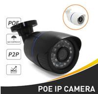 Wholesale security camera onvif poe resale online - POE Waterproof P P LED Bullet IP Camera Outdoor MP MP CCTV Camera ONVIF Night Vision P2P IP Security Cam
