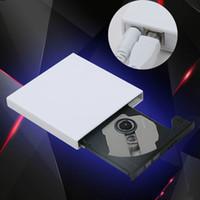 drives ópticos portáteis venda por atacado-Unidade de queimador de unidade de DVD externo CD-RW ROM Burner Drive para PC, Mac, laptop, netbook suporte para GHOST.XP.SE.ME.VISTA.WIN7