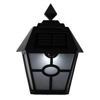bewegung aktiviert außenwand licht großhandel-Wasserdichte LED Solar Licht Bewegungssensor Outdoor aktiviert Hexagonal Wandleuchte Garten Yard Pathway Licht Notfall Wandleuchte