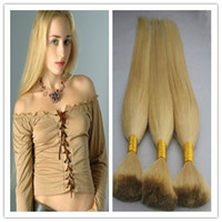 Wholesale blond braiding hair for sale - Group buy Blond Human Hair Bulk g brazilian braiding hair bulk no weft Inch human hair for braiding bulk no attachment