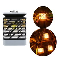 Wholesale house street solar light resale online - Atmosphere Solar candle lights Fire dancing llights decoration your life for yard housing garden road and plaza lights