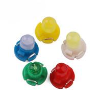 luces de advertencia verde rojo al por mayor-100 unids T4.2 COB 1 SMD 12 V LED del tablero de instrumentos Winding Light Bulbs Panel de instrumentos Indicador de advertencia de luz de cuña