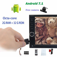 italian dvd Canada - Rearview camera+7'' Trip computer Double Din Car Radio Stereo Octa-core Android 7.1 Headunit no DVD player GPS Navigation Bluetooth WIfi
