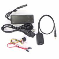 ata hdd 2.5 venda por atacado-Freeshipping Novo USB 2.0 para IDE SATA S-ATA 2.5 3.5 HD HDD Conversor Adaptador de Disco Rígido