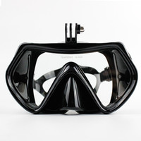 gopro mergulho venda por atacado-Gopro Temperado Mergulho Máscara de Mergulho De Vidro Máscara de Mergulho Adultos Silicone Óculos de Mergulho Máscaras de Mergulho Para Go Pro Camera