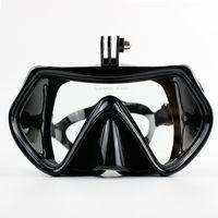 ingrosso maschera di immersione subacquea-Gopro Tempered Diving Glass Snorkeling Maschera subacquea Adulti Silicone Nuoto Occhiali da immersione Maschere subacquee per Go Pro Camera