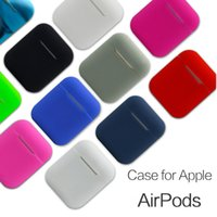 Wholesale candy case silicone for sale - For Airpods Case Soft Cover Protector Sleeve for AirPods Earphone Candy Colorful Box New Silicone Waterproof Case