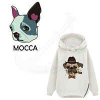 Wholesale Clothes Press - Tide brand cigar dog Heat Press 27.5*17cm T-shirt Sweater DIY Accessory A-level Washable Iron-on Transfers patch for clothing