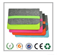 selling macbook 2018 - Top Selling Products Grey and Green Felt Laptop Case with Elastic band Easy, durable and beautiful