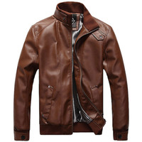 Wholesale leather jacket for sale - 2018 New Mens Jackets PU Clothing Locomotive Men Clothing Coat Men S Leather Jacket Motorcycle Overcoat For Male Chaqueta