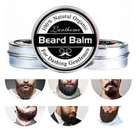 sakal tasarımı toptan satış-Yüksek Kaliteli Küçük Boyutu Doğal Sakal Kremi Sakal Balsamı Sakal Büyüme Ve Bıyık Pürüzsüz Pürüzsüz Styling Için Bıyık Balmumu