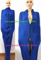 mavi likra toptan satış-Seksi Vücut Çantaları Mumya Kostümleri Unisex Kıyafet Yeni Mavi Lycra Spandex Mumya Takım Elbise Kostümleri Ile Unisex Uyku Tulumları iç Kol Kollu P308