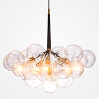 Discount diy modern pendant ball - Modern Bubble Glass Pendant Lights Fixture Home Deco Glass Ball Pendant Lamp DIY E27 Suspension Clear Glass Hanging Lamp