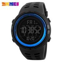 Wholesale watch double time - SKMEI Men Sports Watches Countdown Double Time Watch Alarm Chrono Digital Wristwatches 50M Waterproof Relogio Masculino 1251