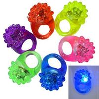 anillos de gelatina parpadean al por mayor-Intermitente Bubble Ring Rave Party parpadeante Soft Jelly Glow ¡Venta caliente! Cool Led Light Up Envío gratis